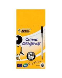 Bic Crystal Ball Point Pens Medium Black x 50 Wholesale Box