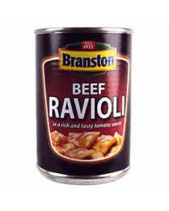 Branston BEEF RAVIOLI in Tomato Sauce 395g