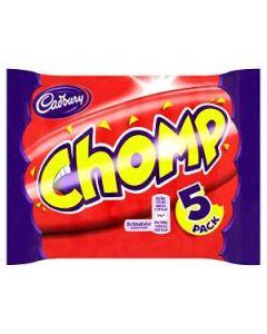Cadbury Chomp 5 Multi Pack 117.5g Chocolate Bars
