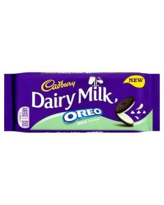 Cadbury Dairy Milk Oreo Mint Chocolate 120g Single Block