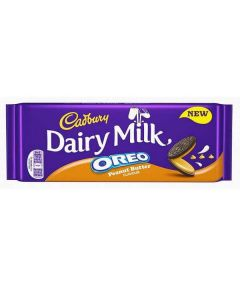 Cadbury Dairy Milk Oreo Peanut Butter Chocolate Bar 120g Single Block