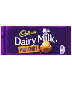 Cadbury Dairy Milk Whole Nut 200g Block Chocolate Bar