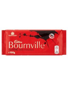 Cadburys Bournville 100g Single Block Dark Chocolate Bar
