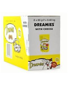 Dreamies Cat Treats with Delicious Cheese 60g x 8 Wholesale Case