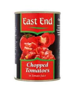 East End Chopped Tomatoes in Tomato Juice 400g tin