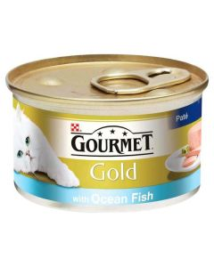 Gourmet Gold Cat Food Pate with Ocean Fish 85g Can