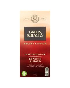 Green & Blacks Velvet Edition Dark Chocolate Roasted Almond 90g CLR