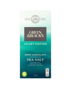 Green and Blacks Velvet Edition Dark Chocolate Sea Salt 90g CLR
