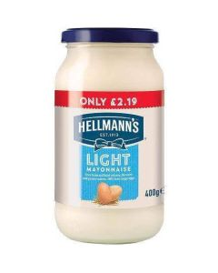 Hellmanns Light Mayonnaise 400g PM £2.19 CLR