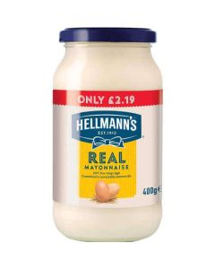 Hellmanns Real Mayonnaise 400g PM £2.19 CLR