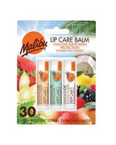 Malibu Lip Care Balm SPF 30 (3 x 4g Mixed Pack) MANGO MINT TROPICAL