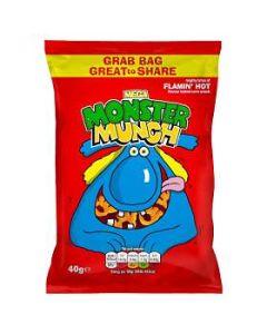 Mega Monster Munch FLAMIN' HOT 40g GRAB BAG Clearance