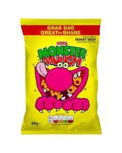 Mega Monster Munch ROAST BEEF 40g GRAB BAG Clearance