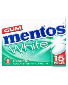 Mentos White Spearmint Gum 22.5g Flip Top Box x 12 Wholesale