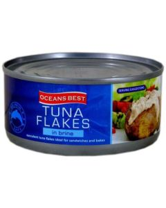 Oceans Best Tuna Flakes in Brine 170g Tin