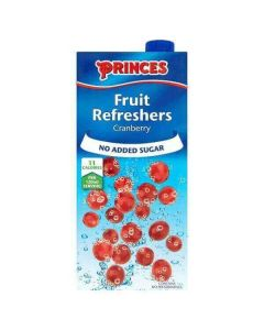 Princes No Added Sugar Fruit Refreshers Cranberry 1 Litre Carton