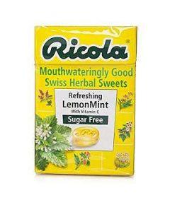 Ricola REFRESHING LEMON MINT Swiss Herbal Sweets Sugar Free 45g box