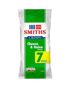 Smiths Cheese and Onion Flavour 25g x 7 pack