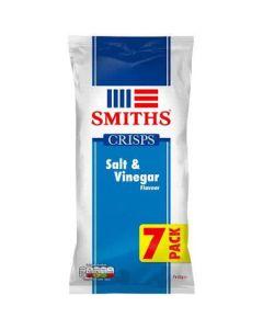 Smiths Salt and Vinegar Flavour 25g x 7 Multipack