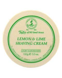Taylor of Old Bond Street Lemon and Lime Shaving Cream Bowl 150g