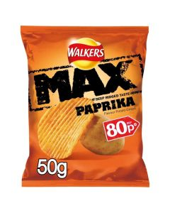 Walkers Max Paprika Crisps PM 80p CLR