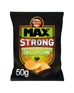 Walkers Max Strong Chilli & Lime 50g CLR 16 Mar 2019