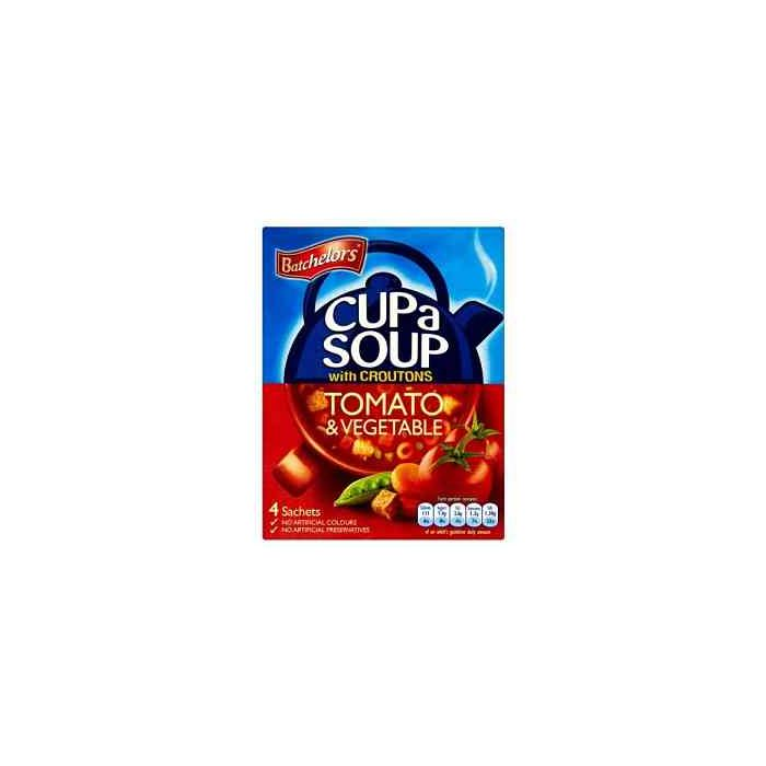 Batchelors Cup a Soup with Croutons Tomato & Vegetable 4 sachets per pack 104g box