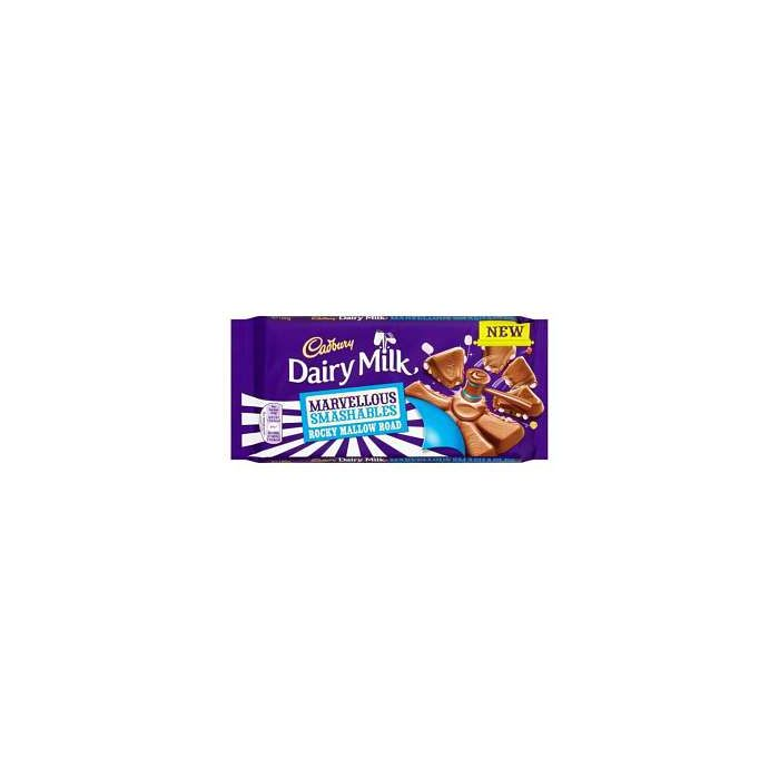 Cadbury Dairy Milk Marvellous SMASHABLES Rocky Mallow Road 180g Out of Date 30 Apr 2016