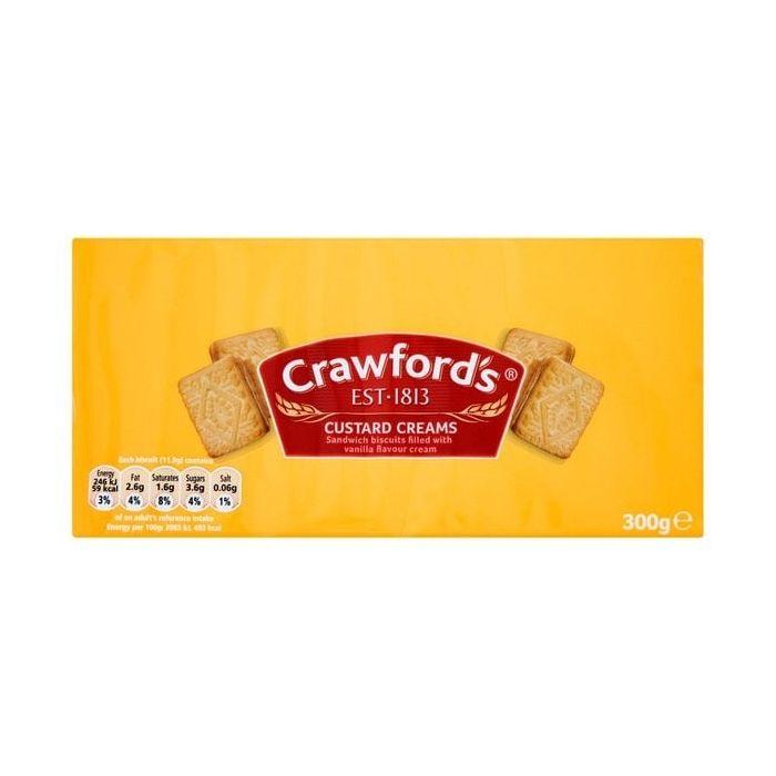 Crawford's Custard Creams Biscuits 300g Single Pack