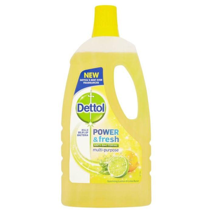 Dettol Power & Fresh Anti-Bacterial Multi-Purpose Floor Liquid Sparkling Lemon & Lime Burst 1L
