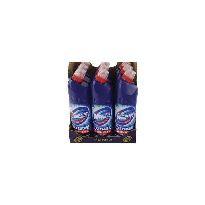 Domestos Extended Germ-Kill ORIGINAL Bleach 750ml x 9 Wholesale Case