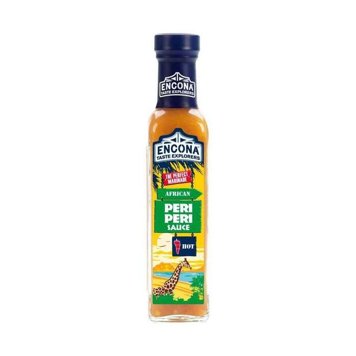 Encona African Hot Peri Peri Sauce 142ml Glass Bottle