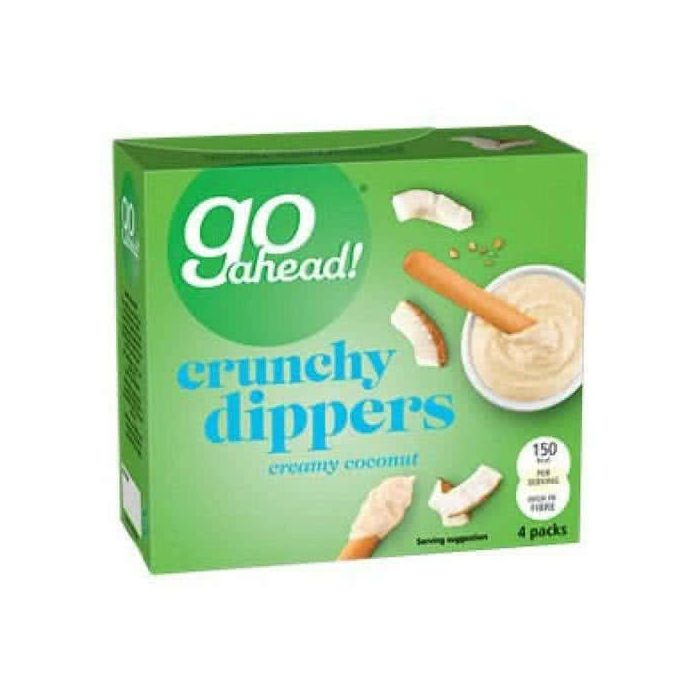 Go Ahead Crunchy Dippers Creamy Coconut 4 Pack 120g