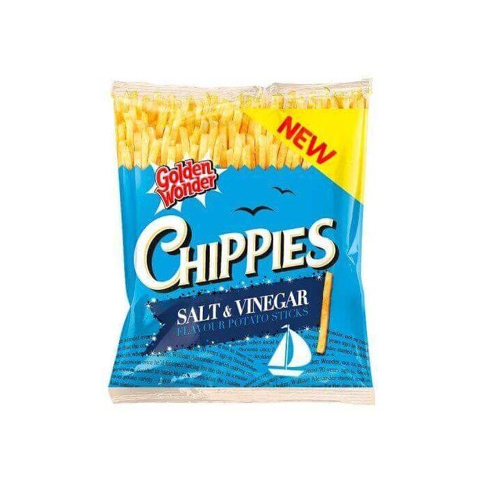 Golden Wonder Chippies Salt & Vinegar Flavour Potato Sticks 45g