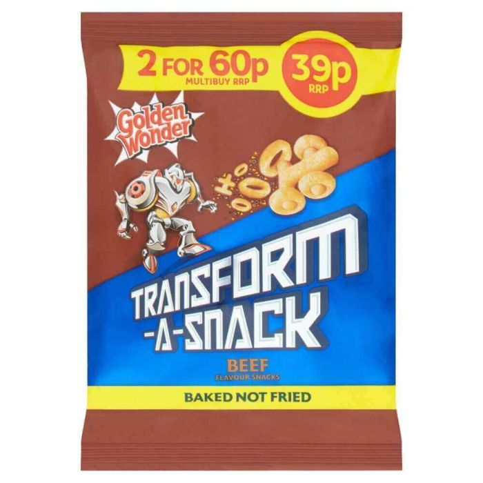 Golden Wonder Transform a Snack Beef Flavour 30g PM 39p CLR