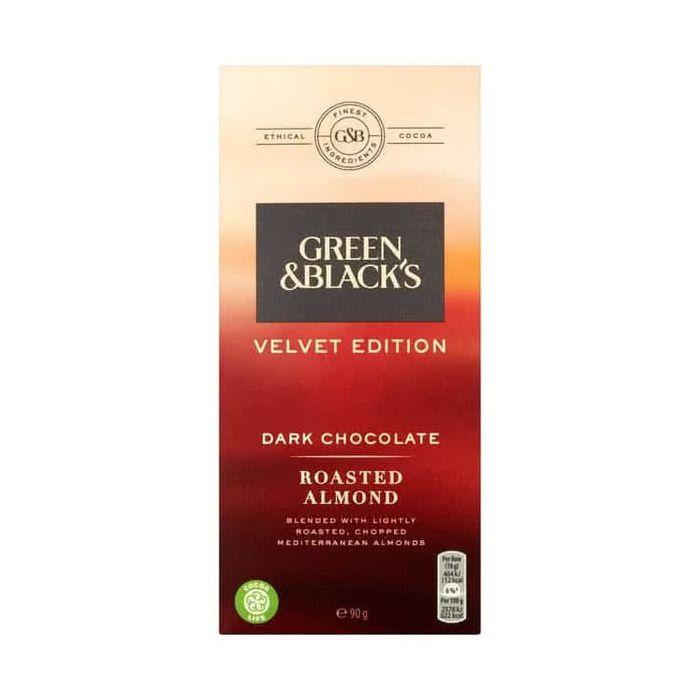 Green & Blacks Velvet Edition Dark Chocolate Roasted Almond 90g CLR