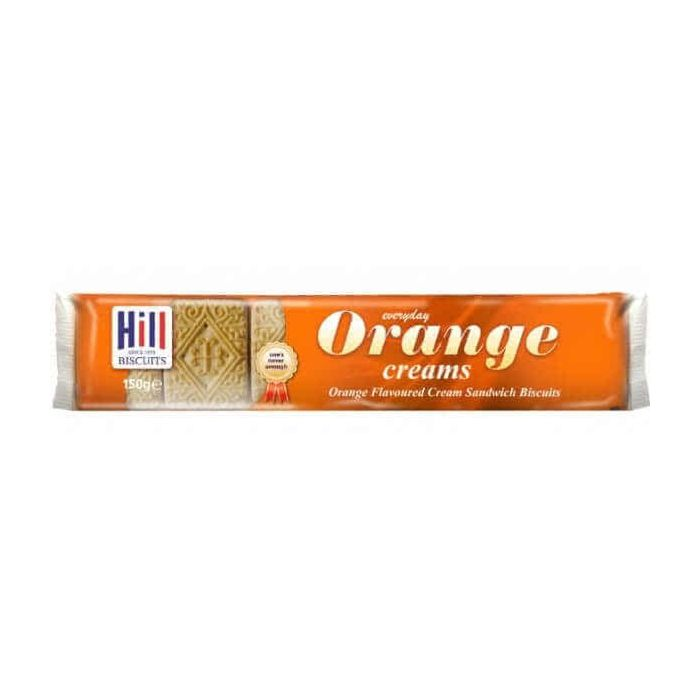 Hill Orange Creams 150g Biscuits Single Pack
