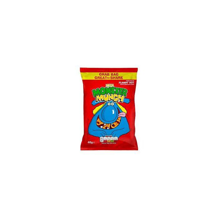 Mega Monster Munch FLAMIN' HOT 40g GRAB BAG