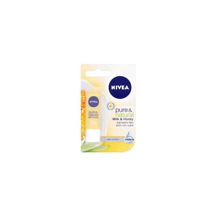 Nivea Pure & Natural MILK & HONEY Lipcare 4.8g