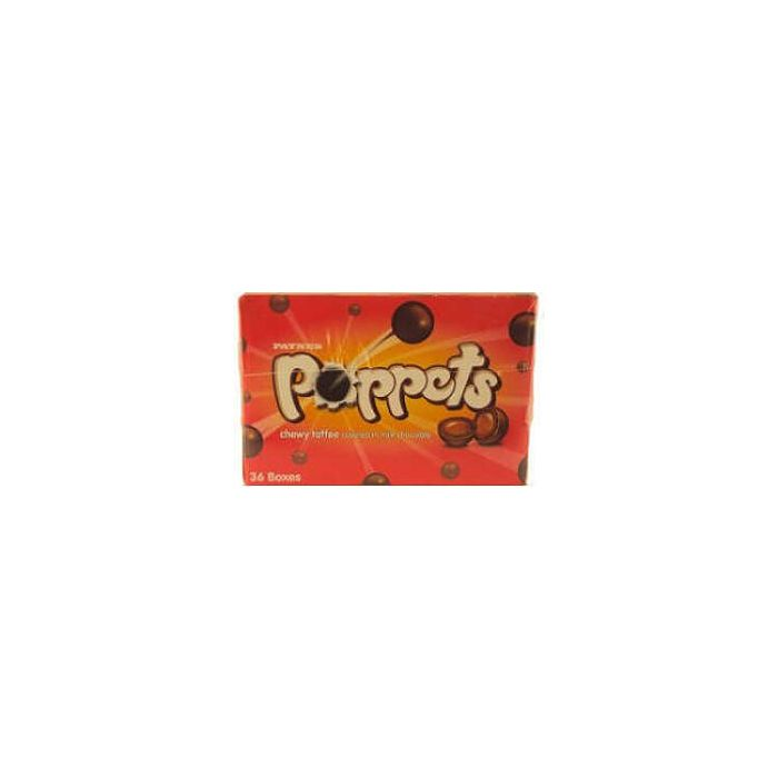 Paynes Poppets CHEWY TOFFEE 40g x 36 Boxes