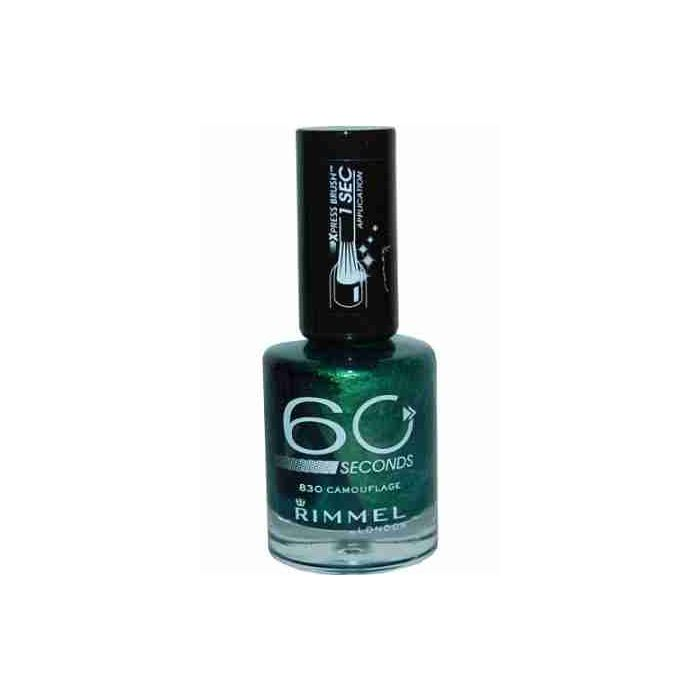 Rimmel London 60 Seconds Nail Polish 12ml CAMOUFLAGE # 830