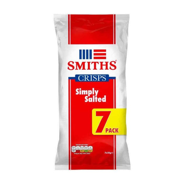 Smiths Simply Salted Crisps 7 Multi Pack 175g