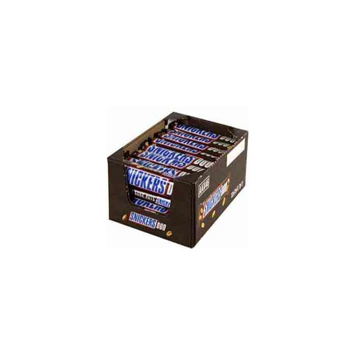 Snickers Duo (2 x 41.7g) 83.4g chocolate bars x 32 Wholesale Case