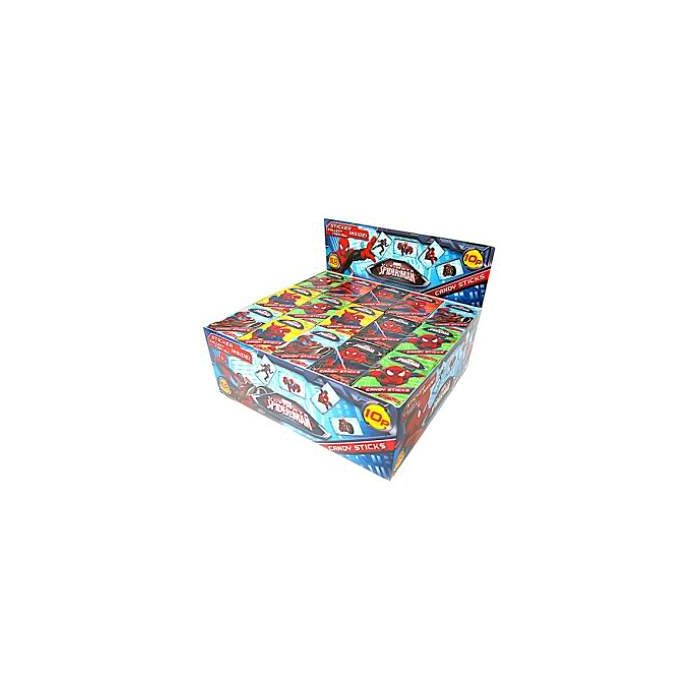 Marvel Ultimate Spider Man Candy Sticks with sticker boxes x 60 wholesale trade case Out of Date 31 Dec 2016