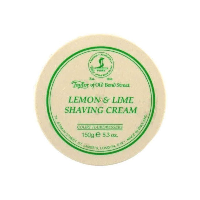 Taylor of Old Bond Street Lemon and Lime Shaving Cream Bowl 150g