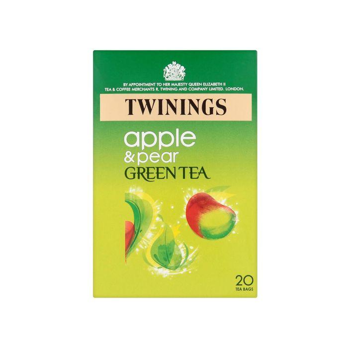 Twinings APPLE & PEAR GREEN TEA Bags 20