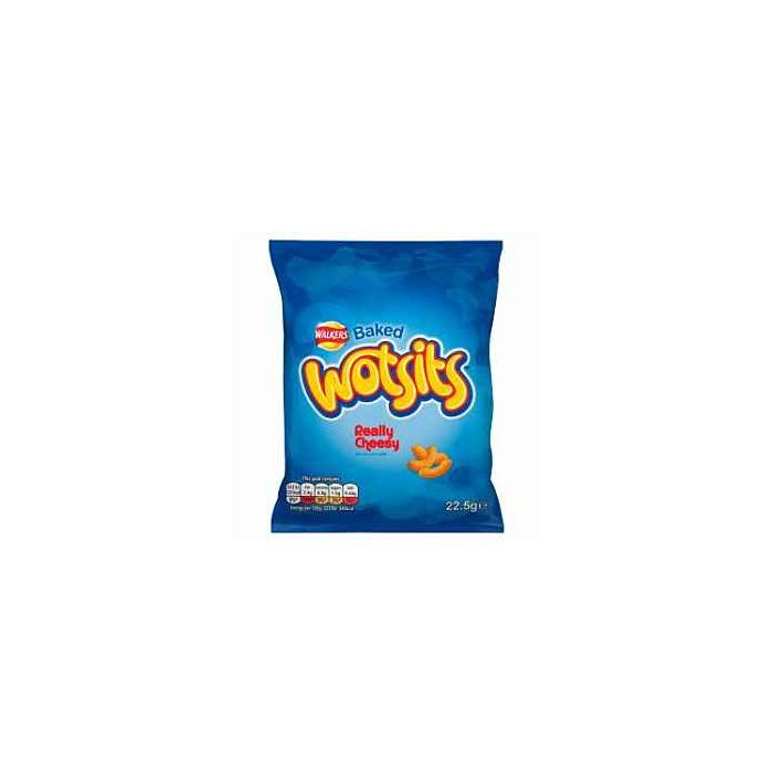 Walkers Baked Wotsits Really Cheesy Flavour Corn Puffs Snacks 22.5g