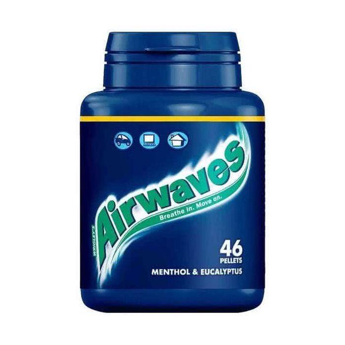 Wrigley's Airwaves Sugarfree Gum Menthol & Eucalyptus 46 Pellets Bottle