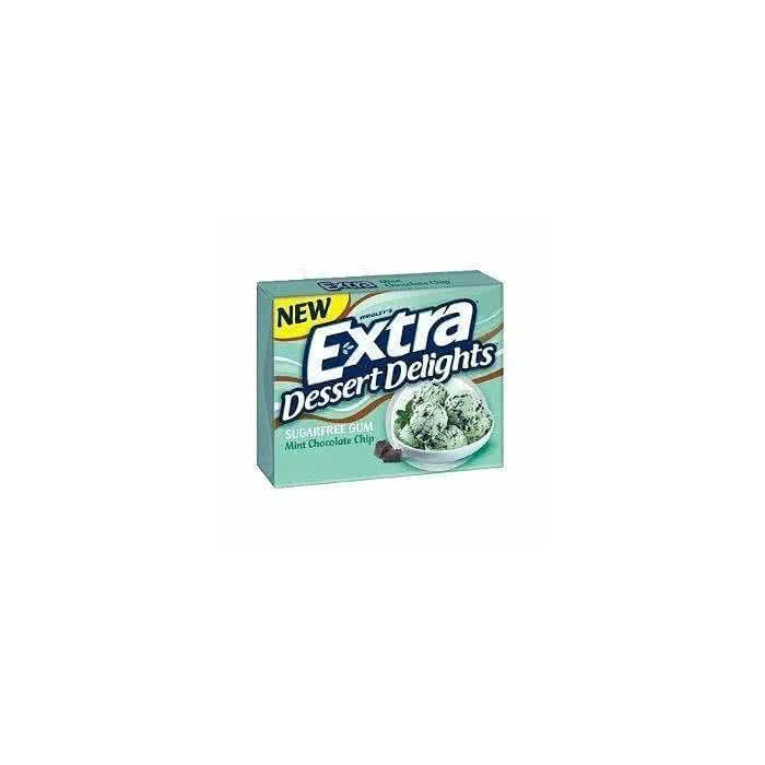 Wrigley's Extra Dessert Delights Mint Chocolate Chip Sugarfree Gum 15 sticks out of date 9 Mar 2016