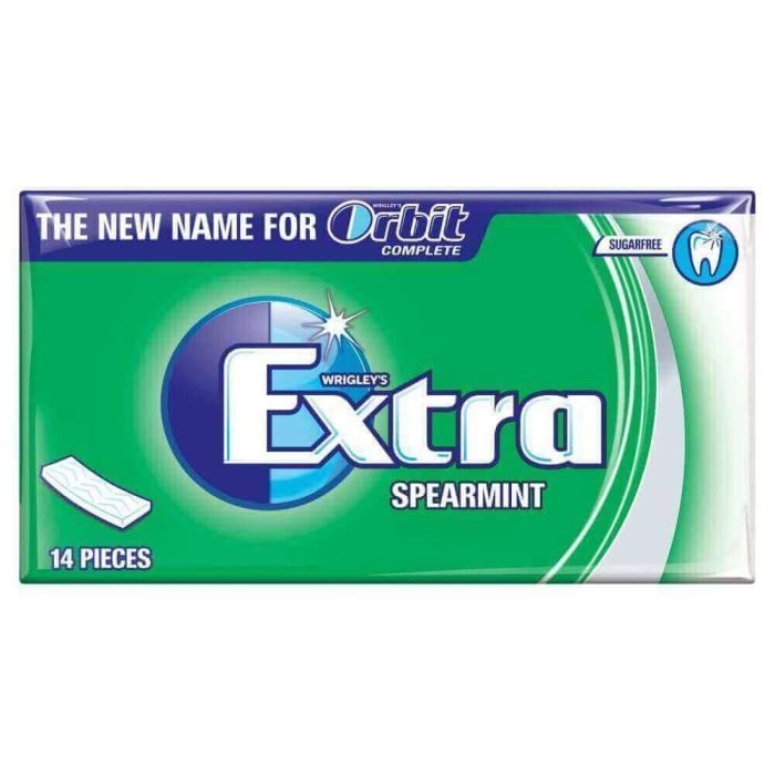 Wrigleys Extra Spearmint 27g x 12 Out of Date